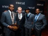 Sweat's handsome gents: Khris Davis, James Colby, John Earl Jelks and Lance Coadie Williams.
