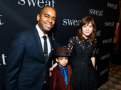 Sweat director Kate Whoriskey, her husband Tony nominee Daniel Breaker, and their son Rory on opening night.