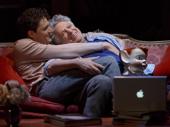 Gabriel Ebert as Rufus and Harvey Fierstein as Beau in Gently Down the Stream.