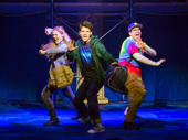 Kristin Stokes as Annabeth, Chris McCarrell as Percy Jackson and George Salazar as Grover in The Lightning Thief.