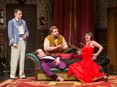 Dave Hearn, Greg Tannahill, Henry Lewis and Charlie Russell in  The Play That Goes Wrong.