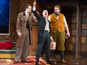 Henry Shields, Jonathan Sayer and Henry Lewis in The Play That Goes Wrong.