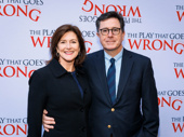 Late night king Stephen Colbert and his wife Evelyn attend the Broadway opening of The Play That Goes Wrong.
