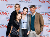 ABC News' Chief Anchor George Stephanopoulos and his wife Alexandra Wentworth attend the Broadway opening of The Play That Goes Wrong with their children Elliott and Harper.