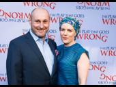 The Play That Goes Wrong director Mark Bell and his wife are ready for opening night.