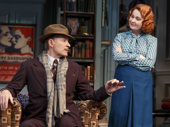 Kevin Kline as Garry Essendine and Kate Burton as Liz Essendine in Present Laughter.
