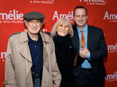 Amélie producer Aaron Harnick snaps a pic with his uncle and aunt, legendary  lyricist Sheldon Harnick and wife Margery.