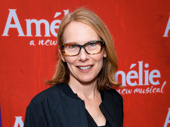 Two-time Tony nominee Amy Ryan takes a photo.