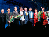 Ooh la la! Amélie's company takes in the opening night applause.
