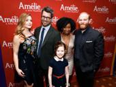 Amélie's swings: dance captain Emily Afton, Trey Ellett, Destinee Rea, Jacob Keith Watson and Audrey Bennett.