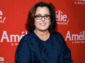 Broadway enthusiast and alum Rosie O'Donnell attends opening night of Amélie.