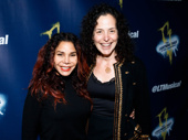 Two-time Tony nominee Daphne Rubin-Vega and Lisa Chanel step out for opening night of The Lightning Thief.