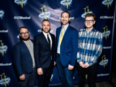 The Lightning Thief's director Stephen Brackett, choreographer Patrick McCollum, scribe Rob Rokicki and music director Wiley Deweese get together.