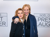Beautiful's Liz Larsen and Chicago star Charlotte d'Amboise spend a girls night out at the Broadway opening of Present Laughter.
