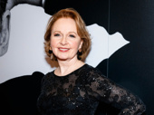 Present Laughter star Kate Burton strikes a pose.
