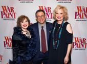 War Paint stars Patti LuPone and Christine Ebersole take a photo with director Michael Greif.