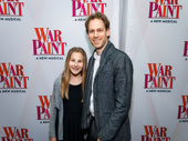 War Paint set designer David Korins and his daughter snap a pic.