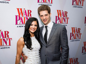 Wicked alum Jonah Platt and his wife Courtney Galiano support Platt's father, War Paint producer Marc Platt, on opening night.