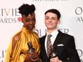 Just like magic! Harry Potter & the Cursed Child's Noma Dumezweni and Anthony Boyle get together after winning their Olivier Awards for Best Supporting Actress and Actor, respectively.(Photo: Getty Images)