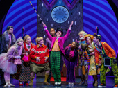 Christian Borle as Willy Wonka and the cast of Charlie and the Chocolate Factory.