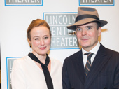Power pair! Oslo stars Jennifer Ehle and Jefferson Mays are ready for their Broadway opening.