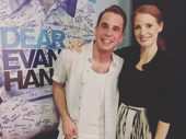 You know it's a big deal when you have Jessica Chastain as a fan! Stage and screen star Chastain visited Ben Platt after catching his emotional performance in Dear Evan Hansen.(Photo: Instagram.com/chelseanachman)