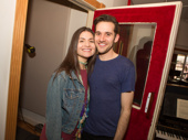 Amélie stars Phillipa Soo and Adam Chanler-Berat get ready to make magic in the recording studio.(Photo: Jeremy Daniel)