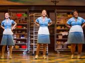 Caitlin Houlahan as Dawn, Sara Bareilles as Jenna and Charity Angel Dawson as Becky in Waitress.