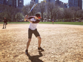 Batter up! Broadway baseball season is officially in full swing. A Bronx Tale's Bobby Conte Thornton is ready for a grand slam.(Photo: Instagram.com/bcontethor)