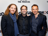 The dream team! Groundhog Day's songwriter Tim Minchin, scribe Danny Rubin and director Michael Warchus get together.