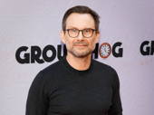 Screen star Christian Slater steps out.