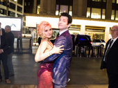 We're sure Karl wouldn't mind living Groundhog Day's opening night over and over! He strikes a final pose with his wife Orfeh.