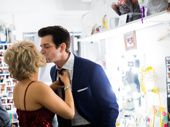 Mwah! Karl and his wife Orfeh steal a smooch.
