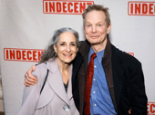 Tony winner Bill Irwin and his wife Martha Roth attend the Broadway opening of Indecent.