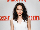 Indecent star Katrina Lenk works the red carpet.