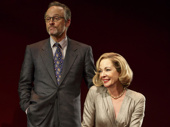 John Benjamin Hickey as Flan and Allison Janney as Ouisa in Six Degrees of Separation.