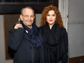 Broadway legends Joel Grey and Bernadette Peters attend opening night of The Little Foxes.