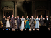 The cast of The Little Foxes takes a bow.