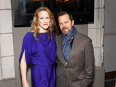 Two-time Tony winner Katie Finneran congratulates her husband, Darren Goldstein on his opening night in The Little Foxes.