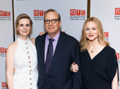 Happy opening! Cynthia Nixon and Laura Linney get together with MTC Executive Producer Barry Grove.