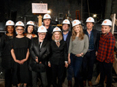Playwrights in hard hats! Carole Rothman snaps a pic with a bevy of the theater's best scribes.