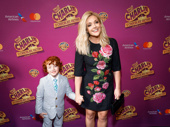 Tony winner Jane Krakowski takes her son Bennett Robert Godley out for a night on the town.