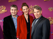 Broadway music man Stephen Schwartz, his wife Carole Piasecki and their son Scott spend family night at the Broadway opening of Charlie & the Chocolate Factory.