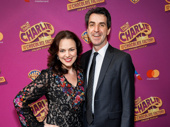 Broadway music couple Georgia Stitt and Jason Robert Brown step out for the Broadway opening of Charlie & the Chocolate Factory.