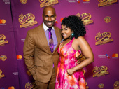 The Queen of Pop and her dad! Charlie & the Chocolate Factory's Alan H. Green and Trista Dollison snap a sassy pic.