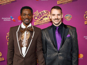 Charlie & the Chocolate Factory puppet designer Basil Twist and guest are ready for opening night.