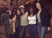 What could be better than two sets of Schuyler Sisters? Hamilton's Lexi Lawson and Mandy Gonzalez pose with the revolutionary hit's West End-bound stars, Miss Saigon's Rachelle Ann Go and Rachel John.(Photo: Instagram.com/gorachelleann)