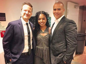 Just a few of Broadway's brightest spiffed up for their Carnegie Hall debuts! Tony nominees Will Chase, Adrienne Warren and Christopher Jackson performed with the New York Pops on April 21.(Photo: Instagram.com/adriennelwarren)