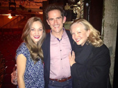 Full circle! Tony winner Susan Stroman visits Bandstand's Laura Osnes (who she directed in the recent Crazy for You anniversary concert) and Andy Blankenbuehler (who she choreographed in Steel Pier in 1997).(Photo: Instagram.com/lauraosnes)
