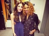 Star power pair! On Your Feet!'s Ana Villafañe snaps a pic with Tony winner Jennifer Holliday backstage.(Photo: Instagram.com/anavillafaneofficial)